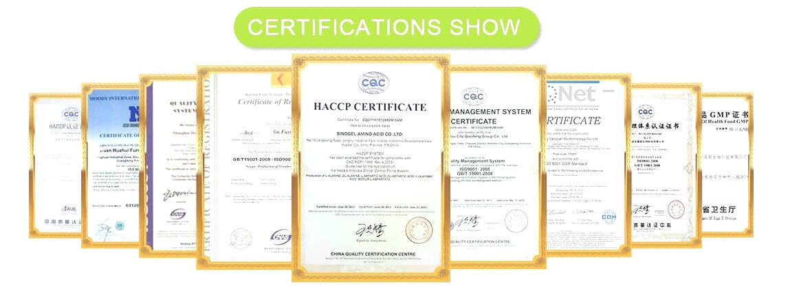 plant extract Certification certificate